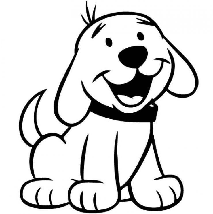Картинка черно белая щенок